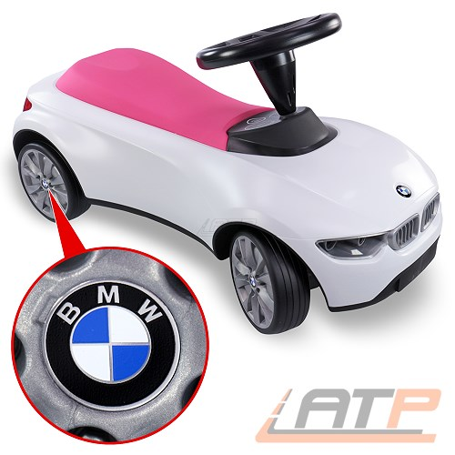 bmw baby racer iii weiss himbeerrot rutscherauto bobby car. Black Bedroom Furniture Sets. Home Design Ideas