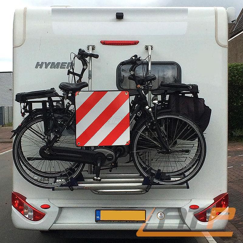 warntafel alu warnschild f r italien 50x50cm fahrradtr ger hecktr ger caravan ebay. Black Bedroom Furniture Sets. Home Design Ideas