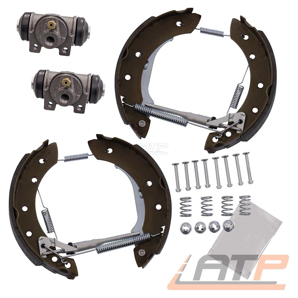 4 vormontierte Textar Bremsbacken Montagesatz hinten Radzylinder