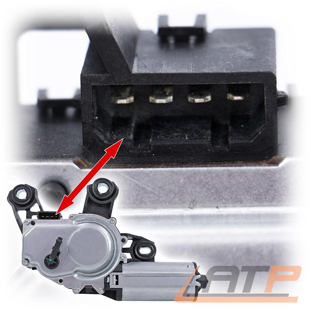 Wischermotor Heckscheibenwischer mit Spritzdüse VW Polo 9N 6Q6955711B *Neuteil*