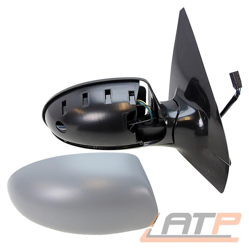 98-04 elektrisch heizbar grundiert Set f/ür Focus Bj Au/ßenspiegel kpl