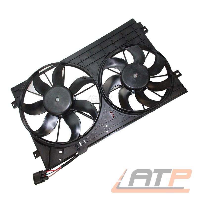 Électro-double-refroidisseur-ventilateur rad eau refroidisseur moteur skoda superbe 3t 1.6-2.0