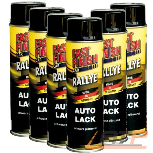 6x 500ml fast finish schwarz gl nzend spraydose spray. Black Bedroom Furniture Sets. Home Design Ideas