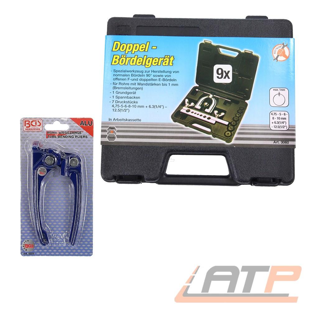 BGS Rohr-Biegezange Rohrbiegezange Leitungen Bremsleitungen biegen 3+4,75+6 mm