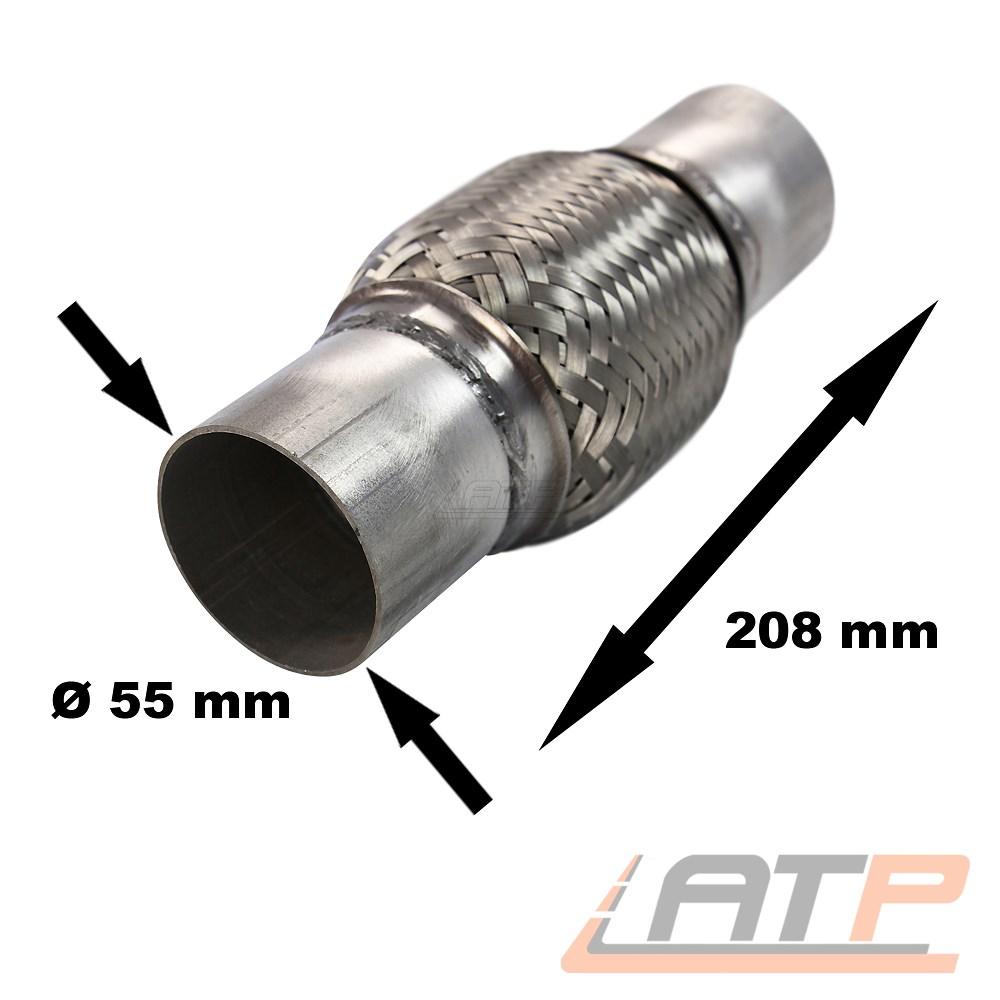 mm Auspuff Flexrohr Hosenrohr Katalysator Ø 45 x 100 Länge