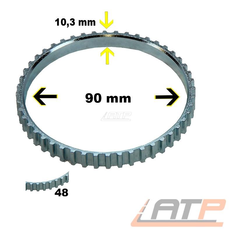 ABS-RING ABS-Sensore Anello ALBERO MOTORE 48-DENTI ANTERIORE LANCIA ZETA BJ 95-02