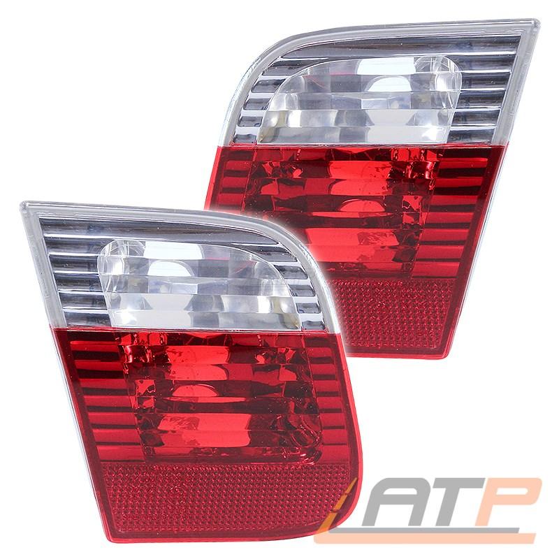 2x-HECKLEUCHTE-HECKLICHT-ROT-WEIss-INNEN-LINKS-RECHTS-BMW-3-ER-E46