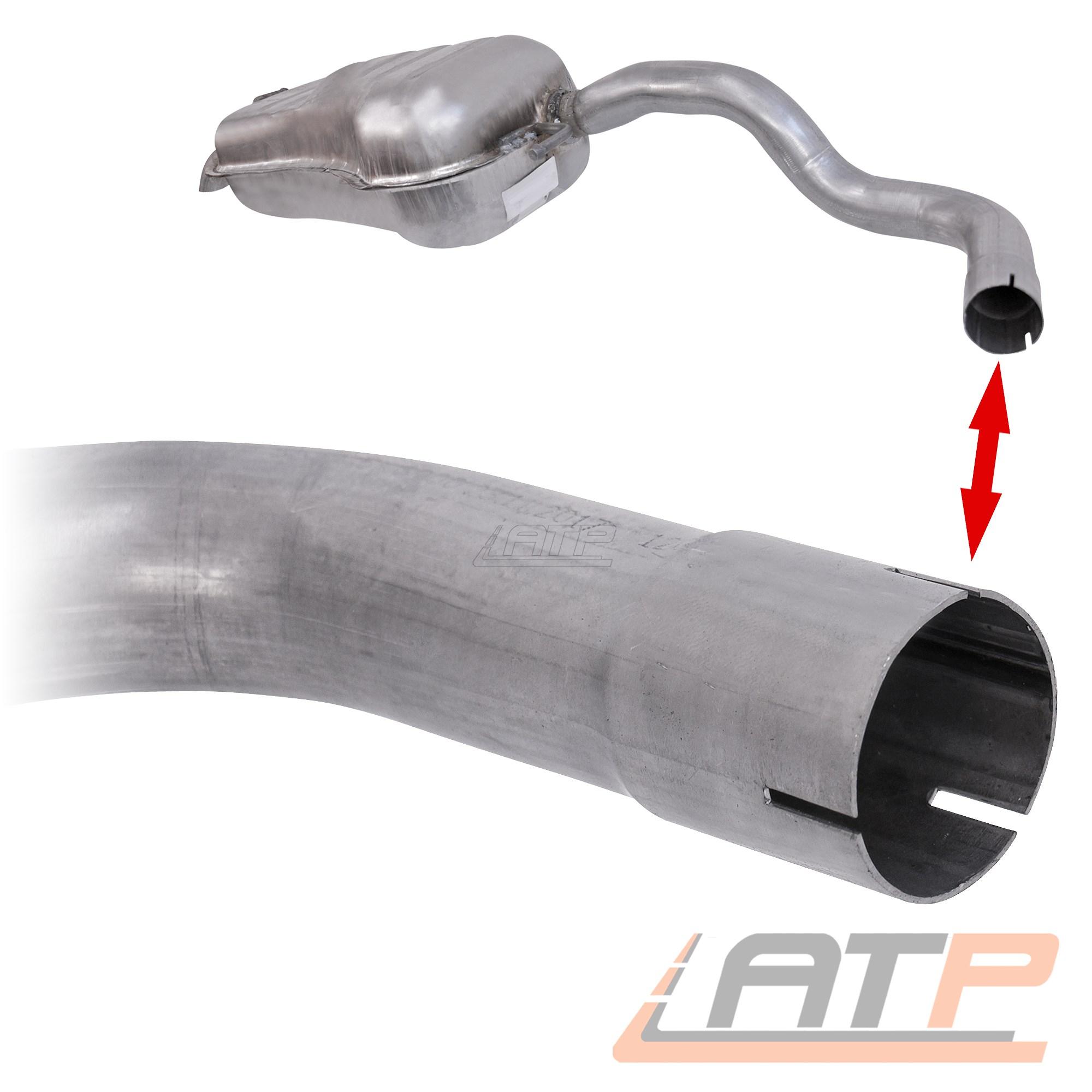 Endschalldämpfer silenciadores para Seat Leon 1m 1.9 tdi año de fabricación 99-06