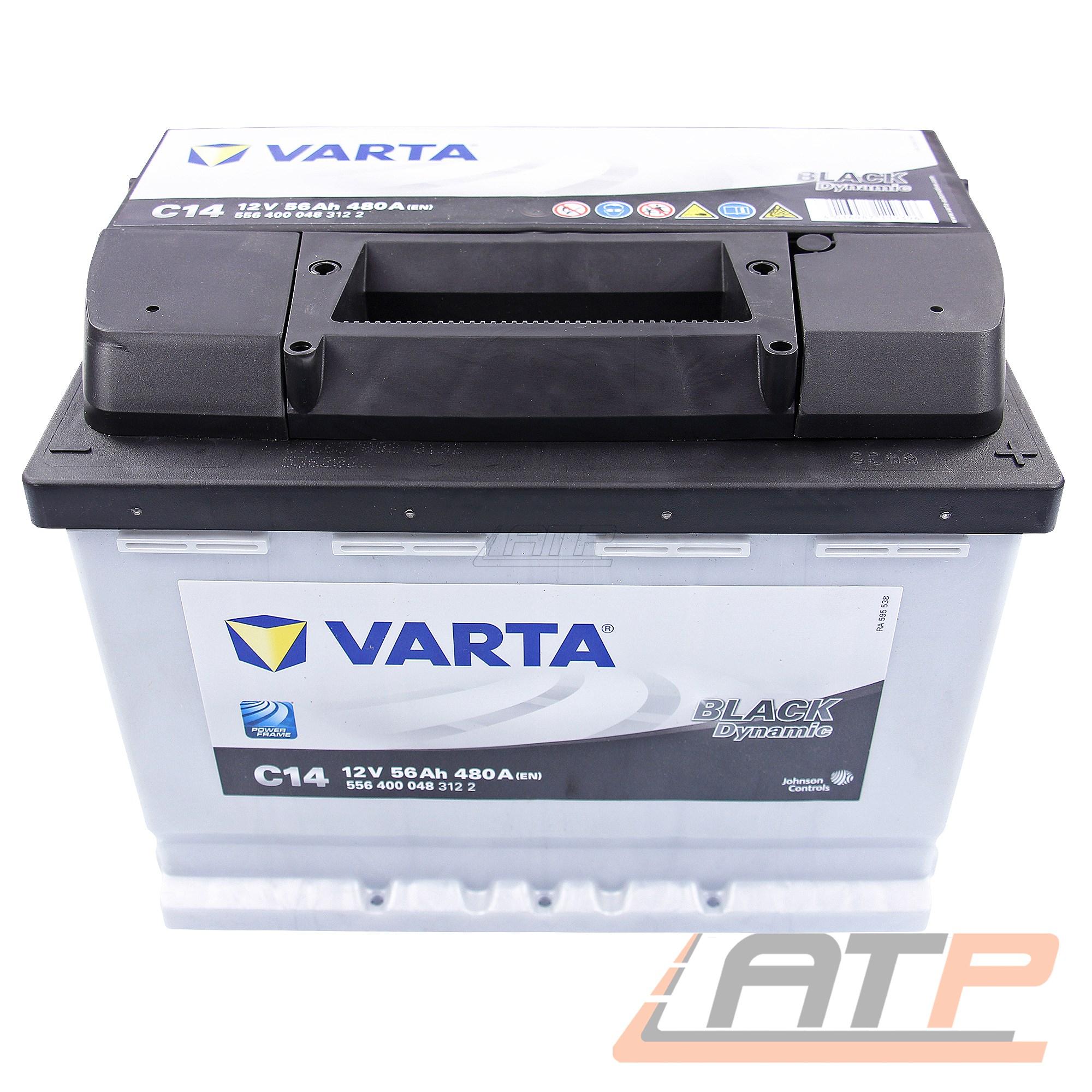 VARTA AUTO-BATTERIE 12V 56AH 480A ERSETZT 50-AH 52-AH 53-AH 54-AH 55-AH 31602829