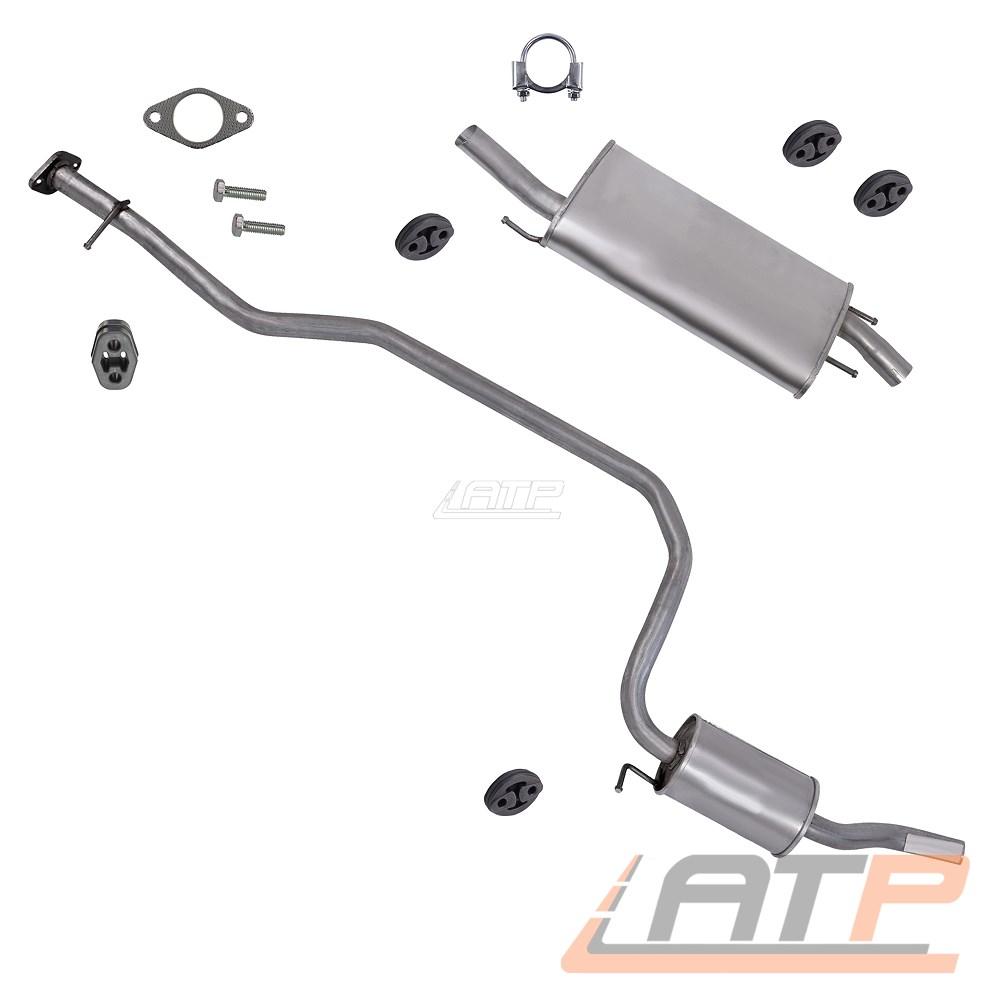 Auspuff Auspuffanlage Endschalldämpfer für Ford Fiesta VI Euro 4 1,25 1,4 ab 08