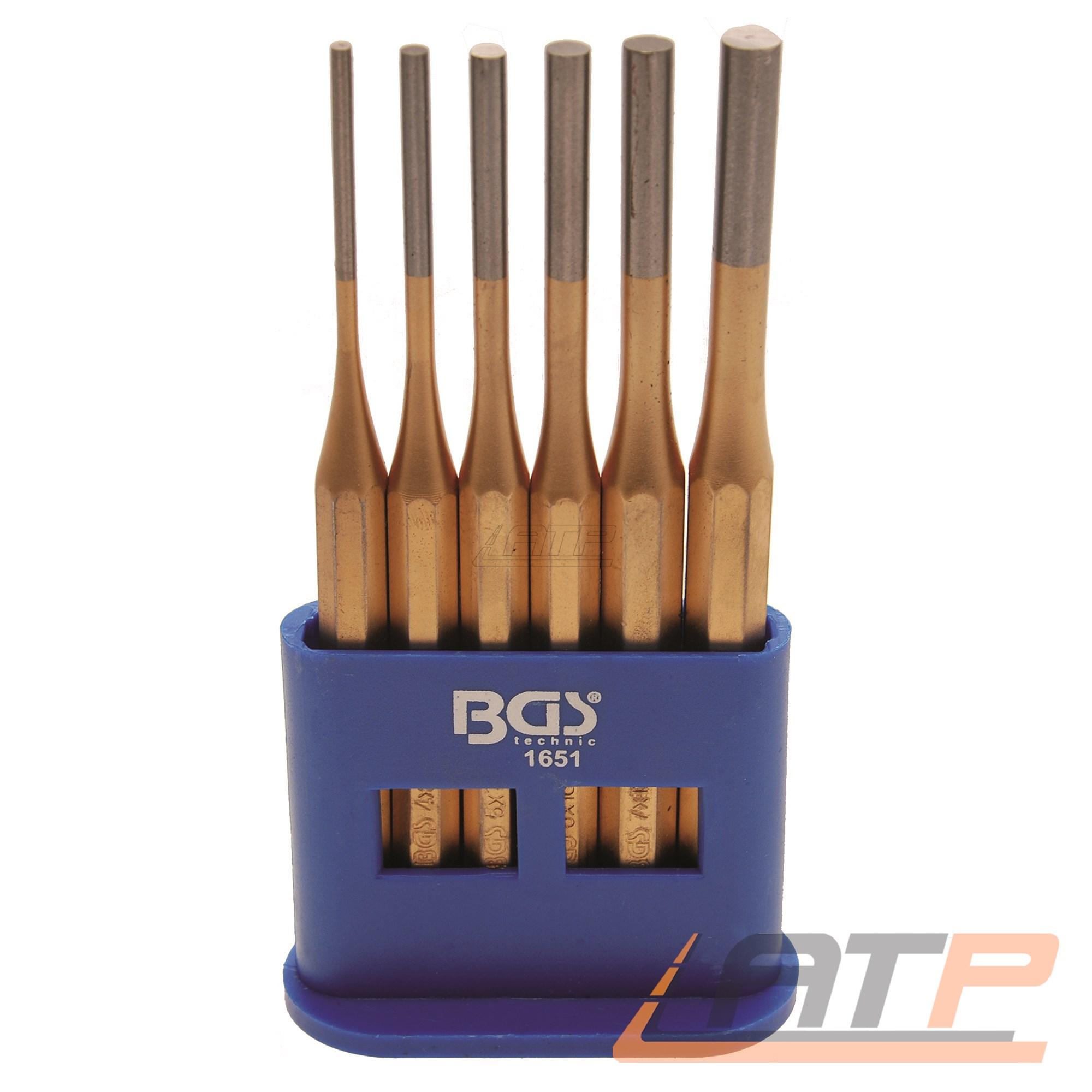 7 Splinttreiber Splintentreiber Durchtreiber 6 tlg 6 5 4 3 8 x 150 mm