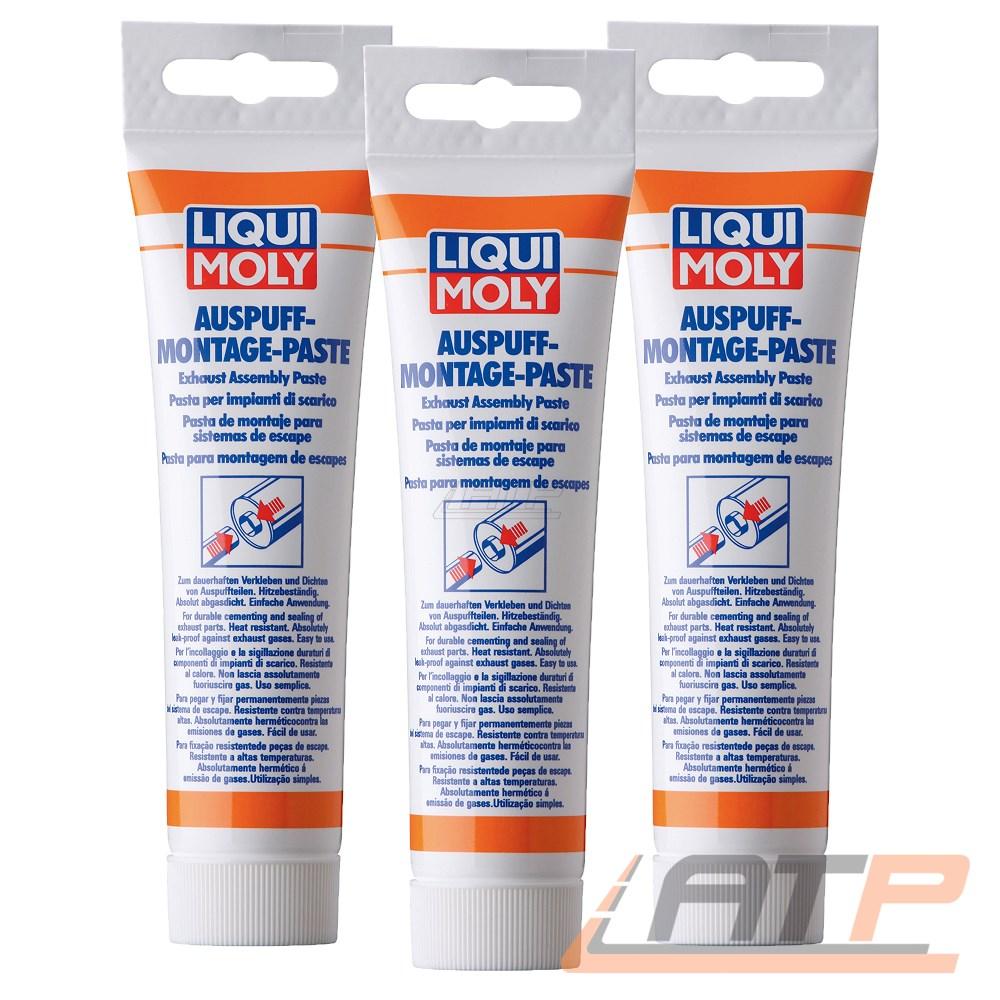 Liqui Moly Auspuff-Montage-Paste 3x 150 g Montagepaste Dichtmasse gasdicht