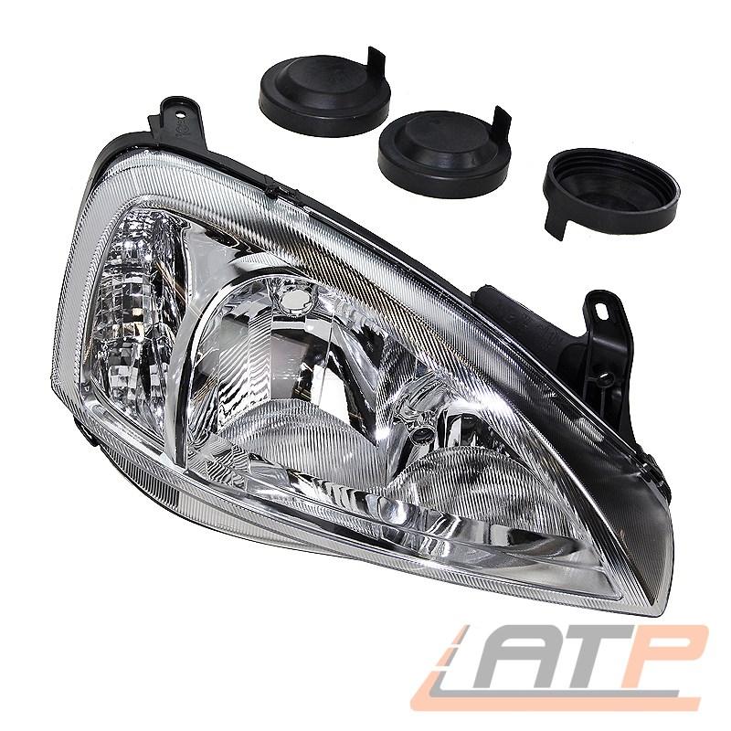 Scheinwerfer Set H7 f/ür Combo Tour Kasten//Kombi Corsa C inklusive OSRAM Lampen ohne Stellmotor LWR