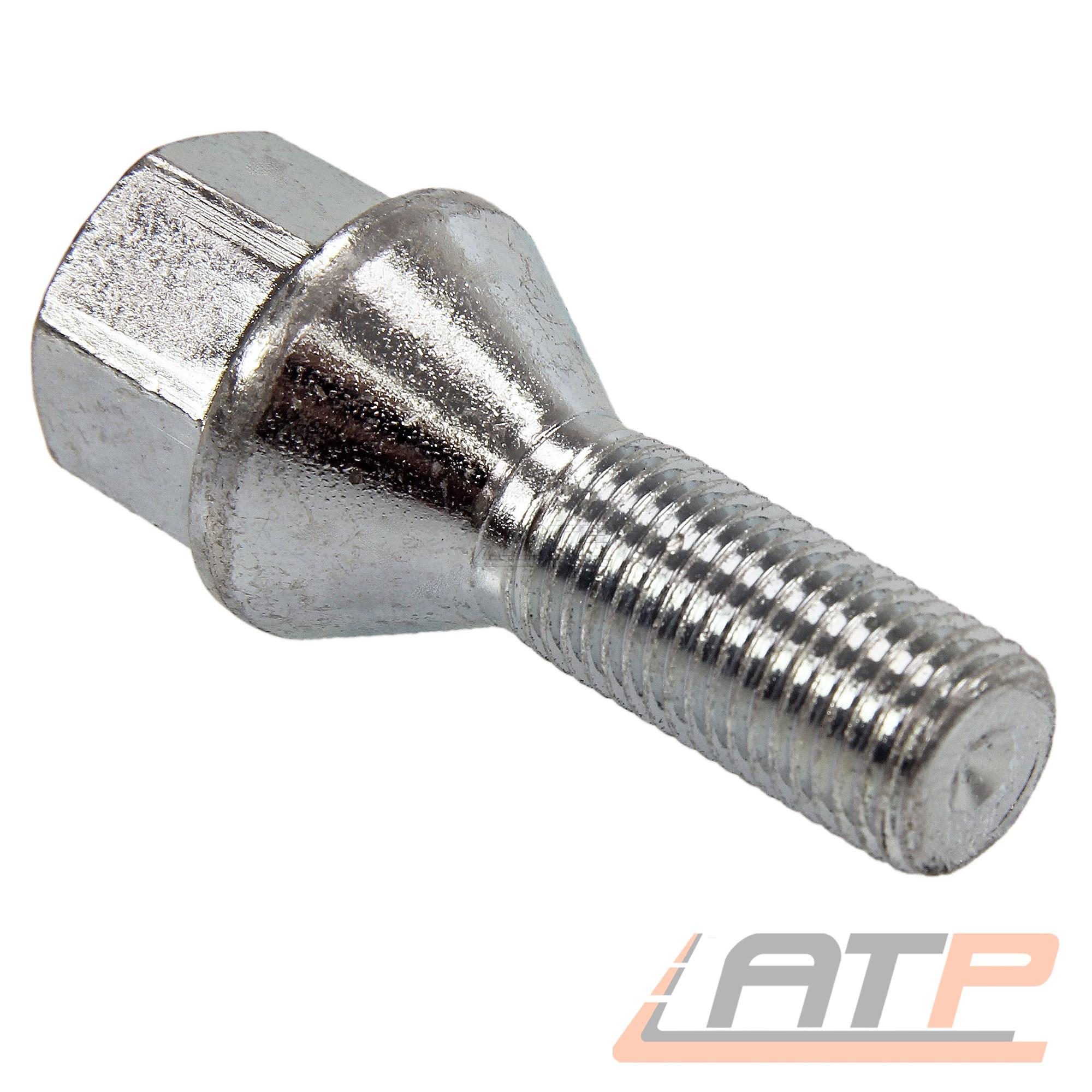 Perno de rueda 16x m12 x 1,5 x 30 mm kegelbund 60 ° sw17 tornillos kegelschraube