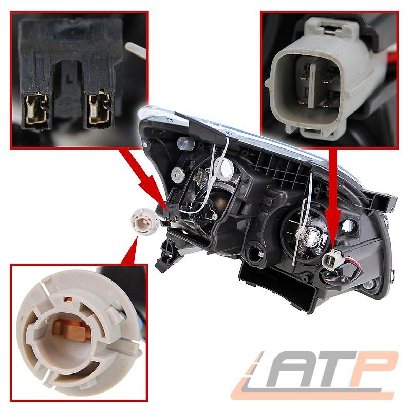 Scheinwerfer Set H1//H7 f/ür Avensis Station Wagon T25 T25/_ inkl OSRAM Lampen ohne Stellmotor LWR