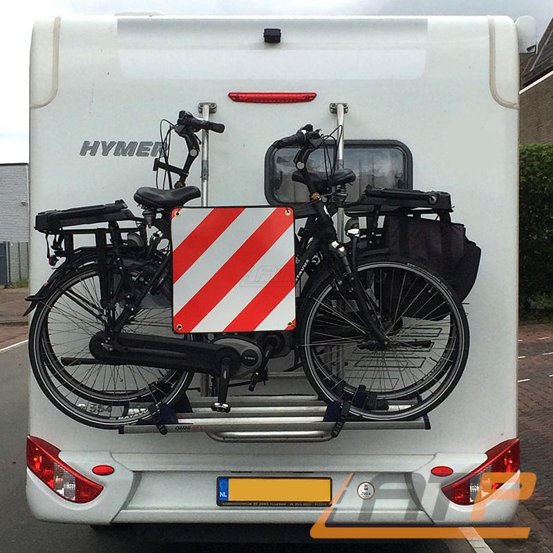 warntafel alu warnschild f r italien 50x50cm fahrradtr ger. Black Bedroom Furniture Sets. Home Design Ideas