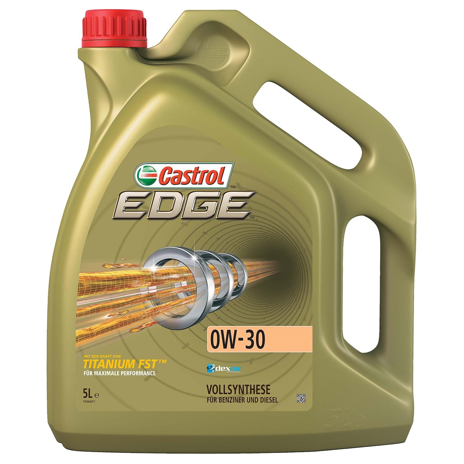 5 l liter castrol edge titanium fst 0w 30 motor l motoren l renault rn0700 hochleistungs l mit der st rke von titanium fst