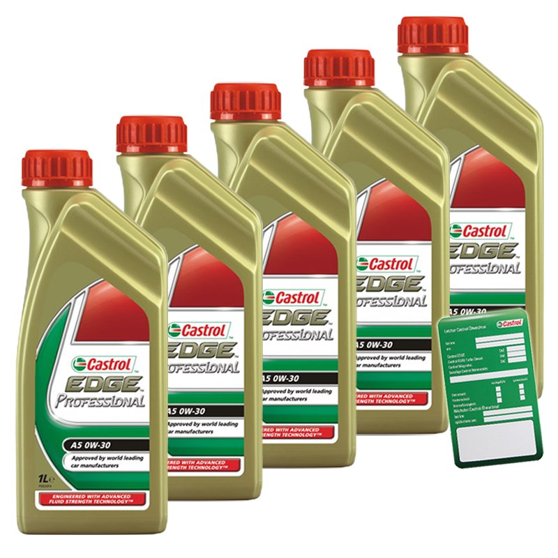 5x 1 l liter castrol edge fst professional a5 0w 30 motor. Black Bedroom Furniture Sets. Home Design Ideas