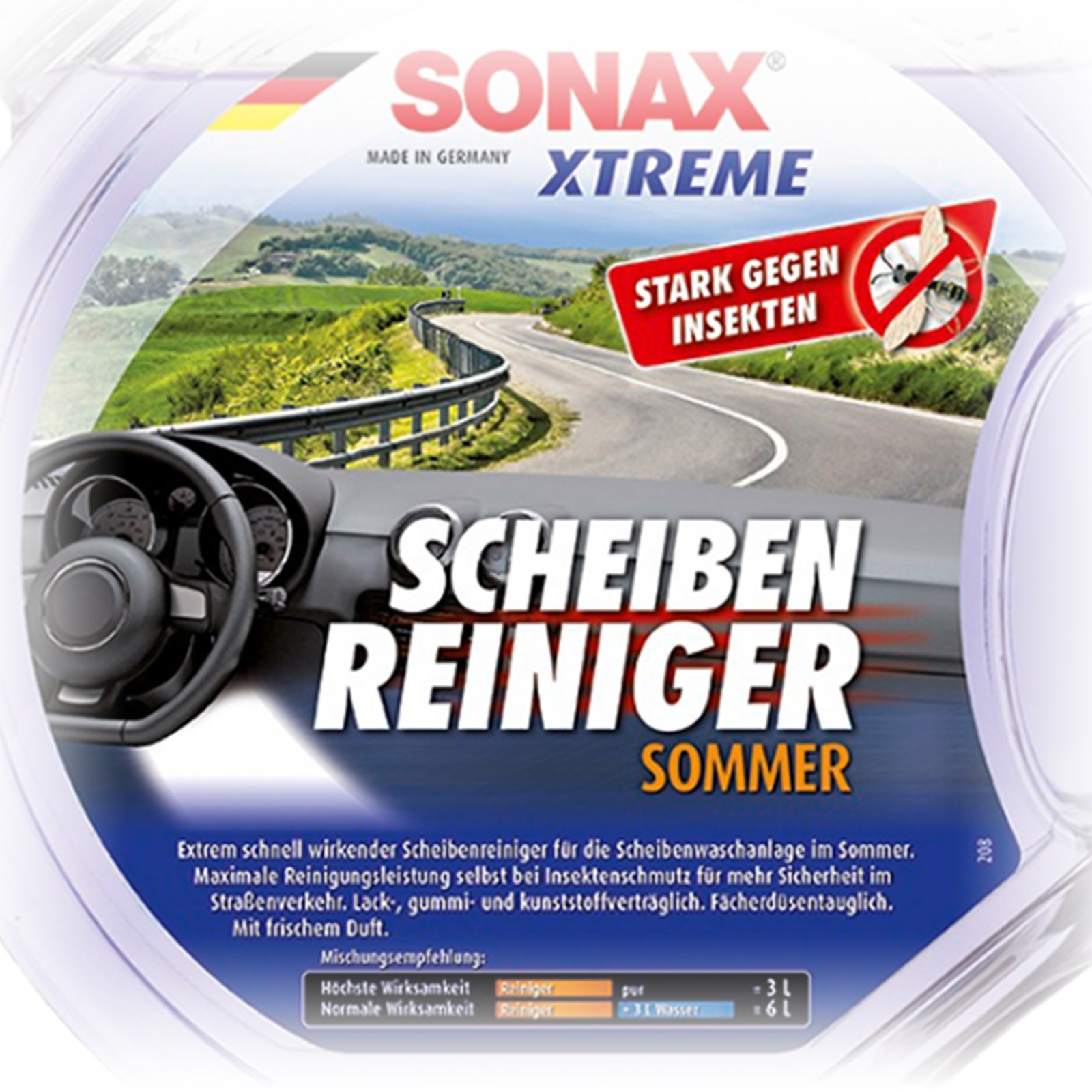 4x 3 l liter sonax xtreme scheibenreiniger sommer. Black Bedroom Furniture Sets. Home Design Ideas