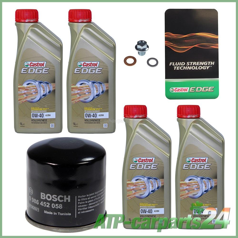 Details About Bosch Oil Filter4 L Castrol Edge 0w 40 Suzuki Alto Mk 3 10 94 02 Alto 4 00 02