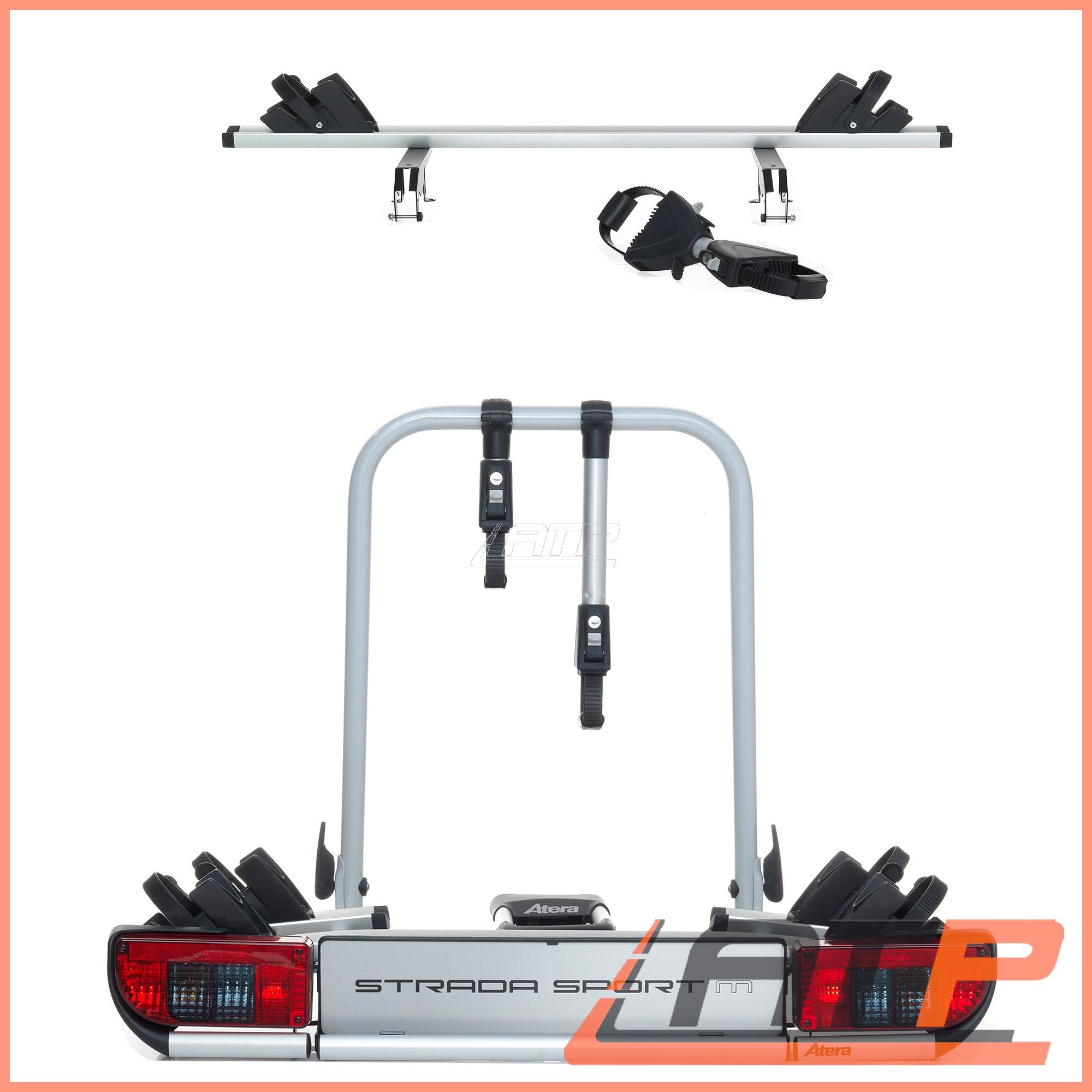 1x atera strada sport m 2 rear towbar bike carrier rack 022684 13 pin connection ebay. Black Bedroom Furniture Sets. Home Design Ideas