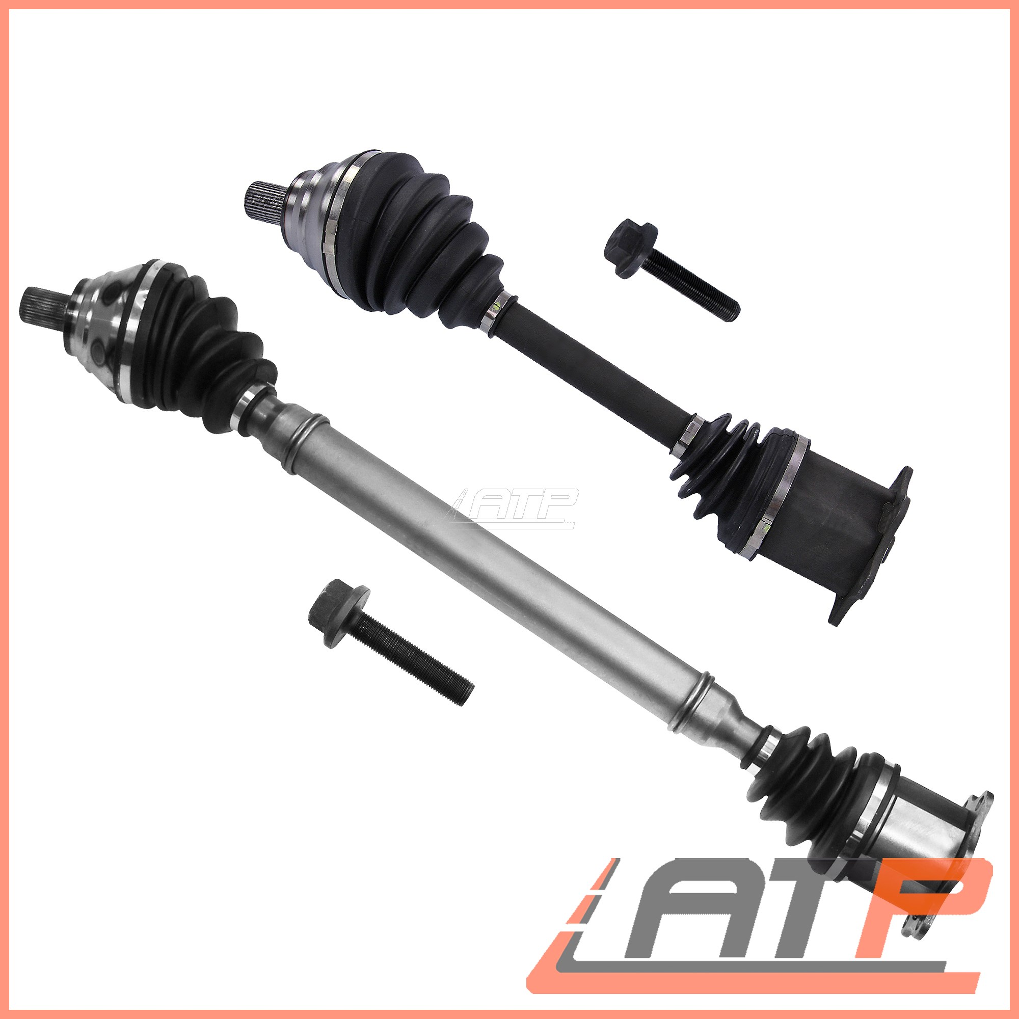 2X DRIVE SHAFT FRONT LEFT+RIGHT AUDI A3 8P 1.9 2.0 03-13