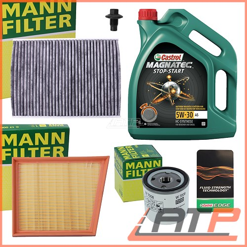mann service kit a 5l castrol magnatec stop start 5w 30. Black Bedroom Furniture Sets. Home Design Ideas