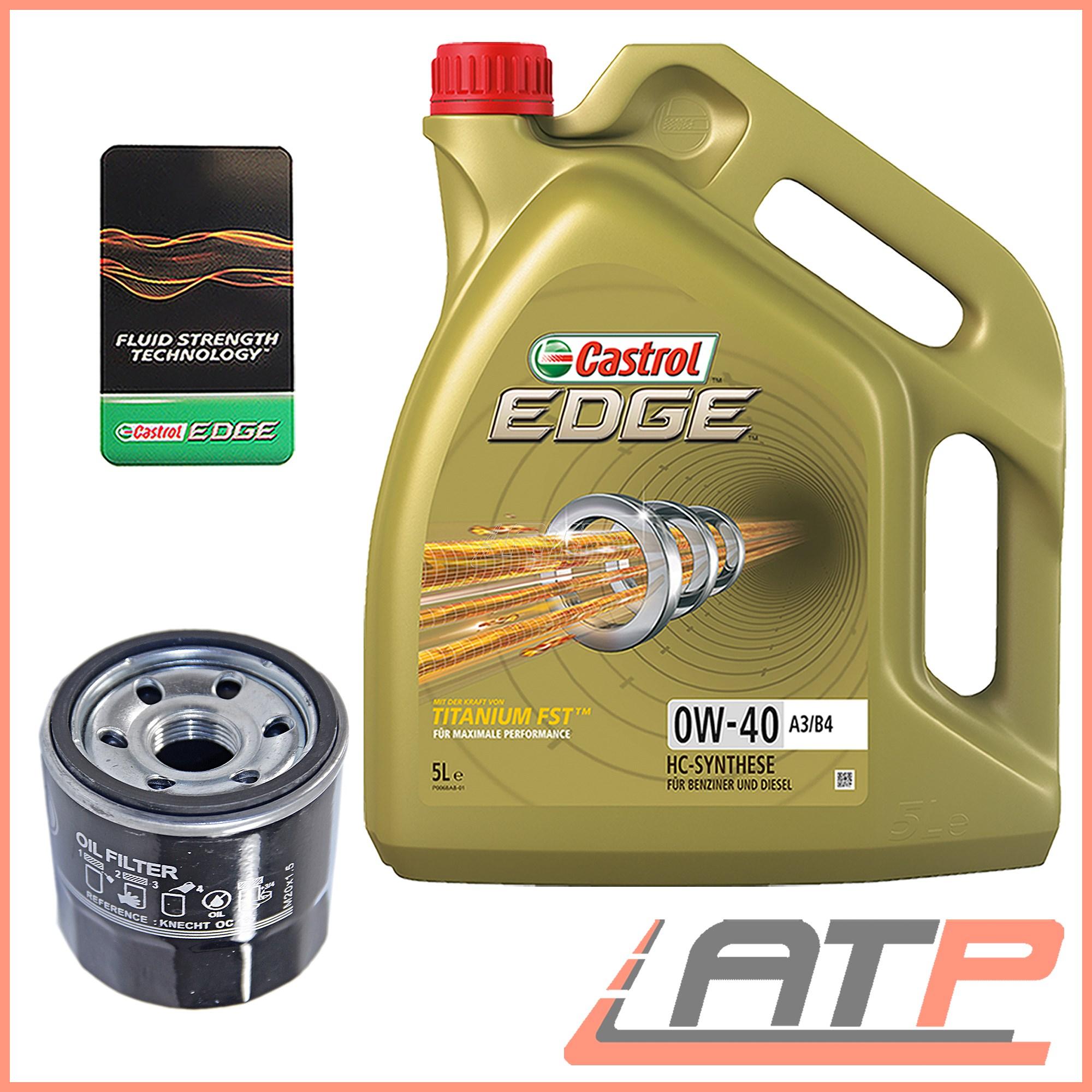 OIL FILTER+5 L CASTROL EDGE FST 0W-40 FITS SUBARU LEGACY MK