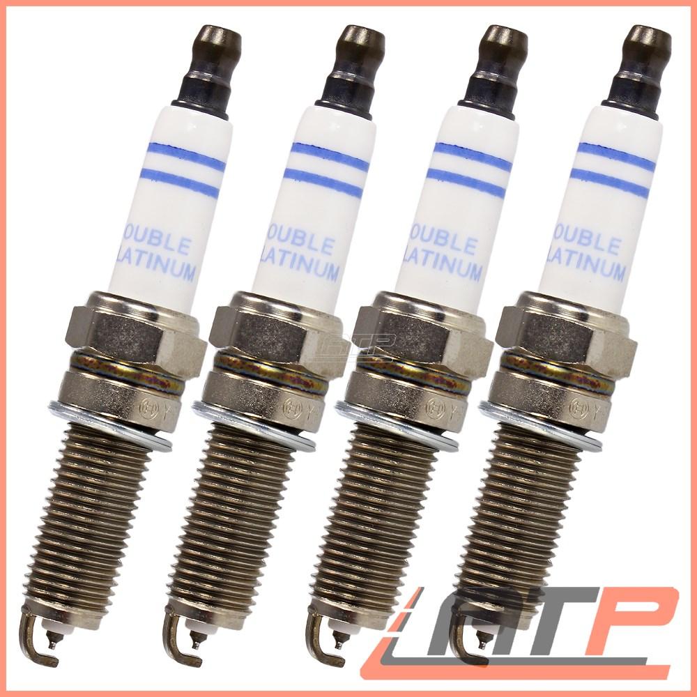 4x MERCEDES E-Class s211 e200 T Kompressor BOSCH DOPPIO PLATINO SPARK PLUGS