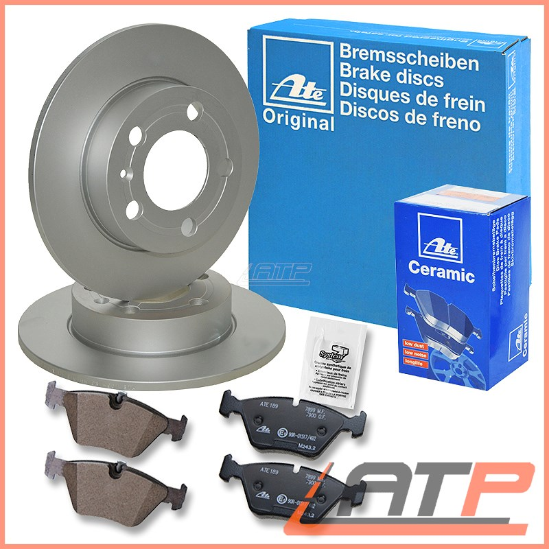 Rear Brake Discs 280mm Solid Volvo V50 2.0 Flex-Fuel 2.0 2.0 D D3 D4 2.4 2.4 AWD