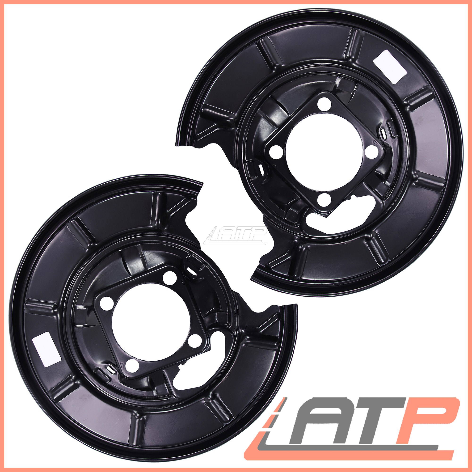 2X COVER PLATE FOR BRAKE DISC REAR MERCEDES A CLASS W169 B W245