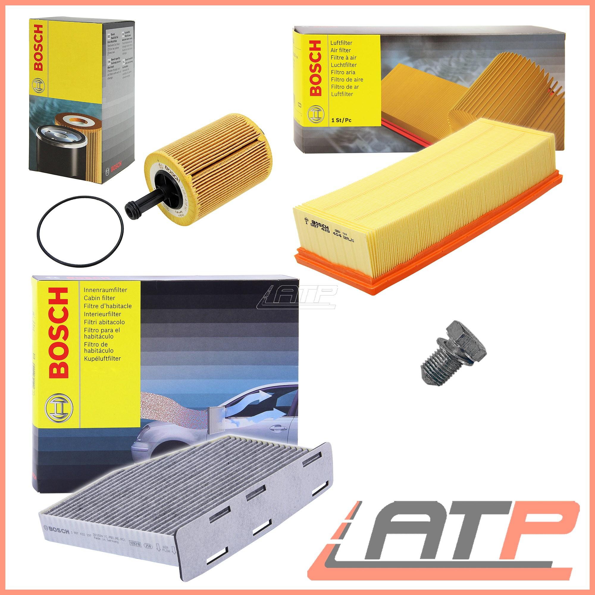 BOSCH-SERVICE-KIT-OIL-AIR-POLLEN-FILTER-AUDI-A3-8P-1-9-2-0-03-13-TT-8J-2-0-08-14