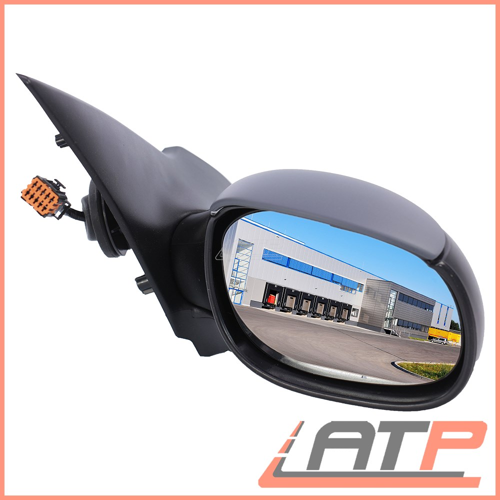 1998-2009 Peugeot 206 Door Wing Mirror Manual Black Driver Side High Quality New