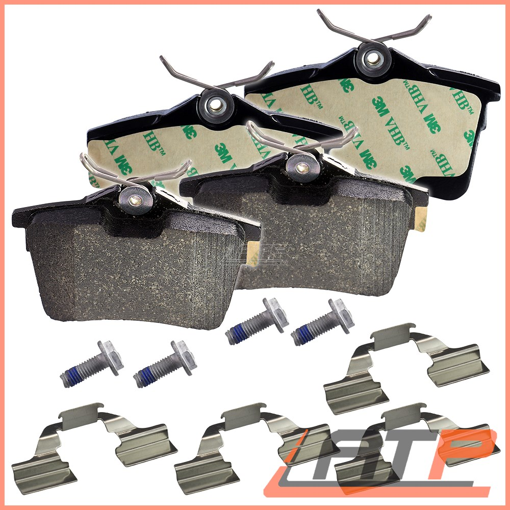 Citroën Berlingo 1.6 HDi Box 90 91 Rear Brake Pads Discs 24 mm Solid