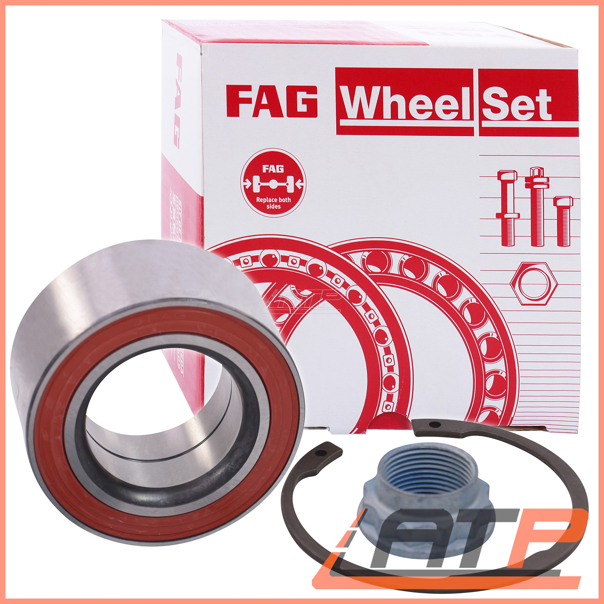 1X FAG WHEEL Bearing Set Rear Bmw Z1 88-90 Z4 E86 E85 3 Series E36 E46