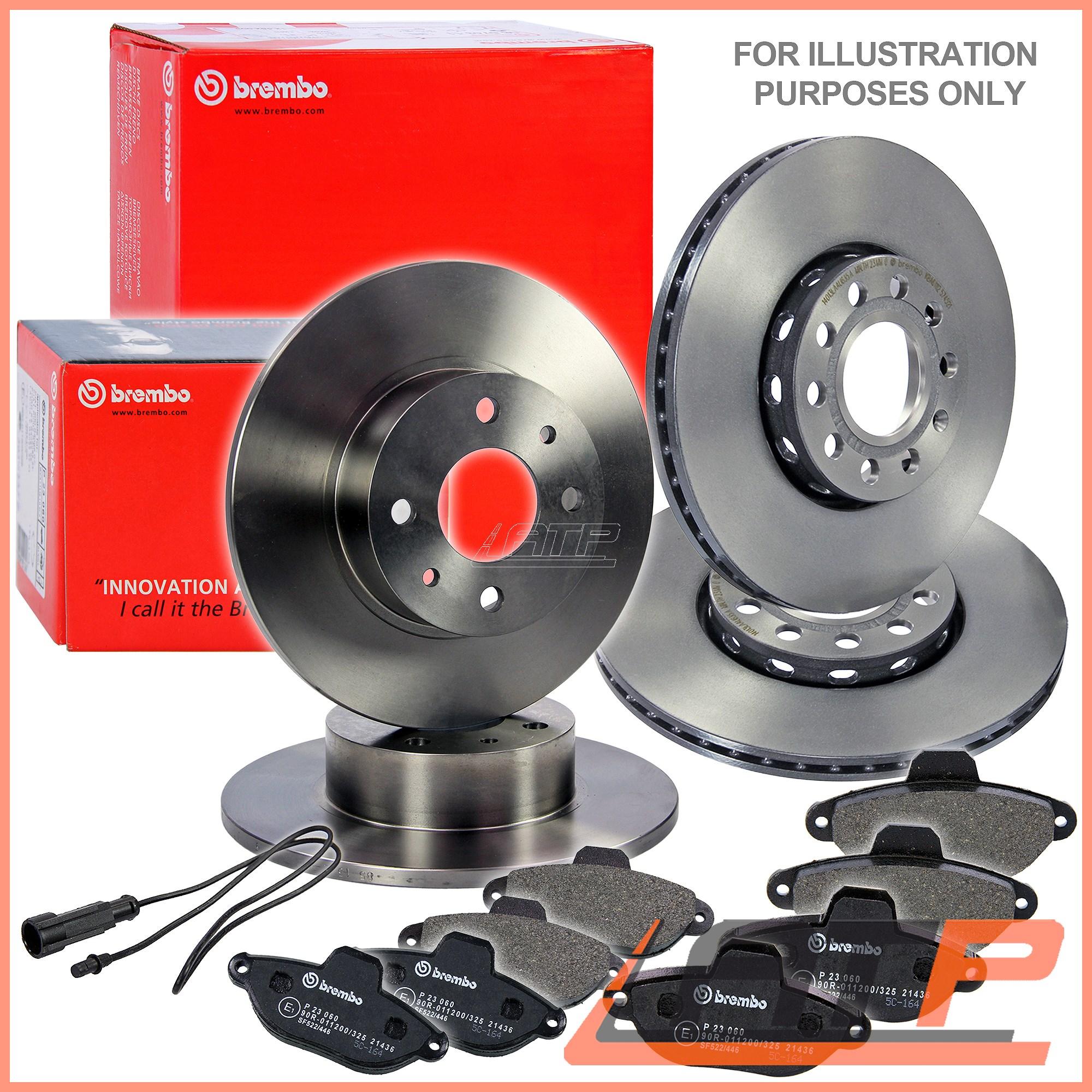 Brembo Brake Pads >> Podrobnye Svedeniya O 4x Brembo Brake Disc Vented O280 Front O253 Rear Solid Pads Vw Caddy Mk 3 04 15
