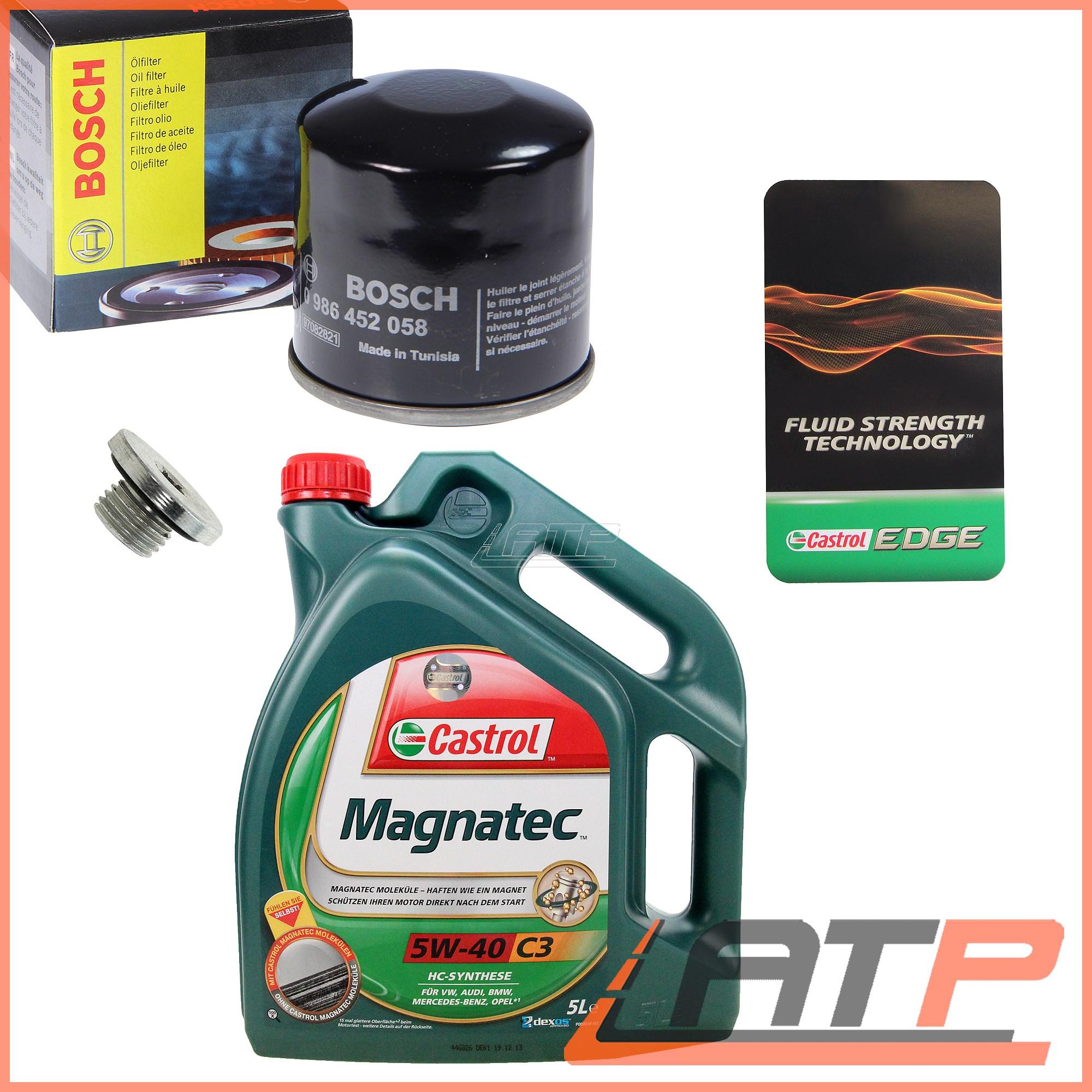 BOSCH OIL FILTER + 5L CASTROL MAGNATEC 5W-40 C3 SUZUKI SWIFT MK 4
