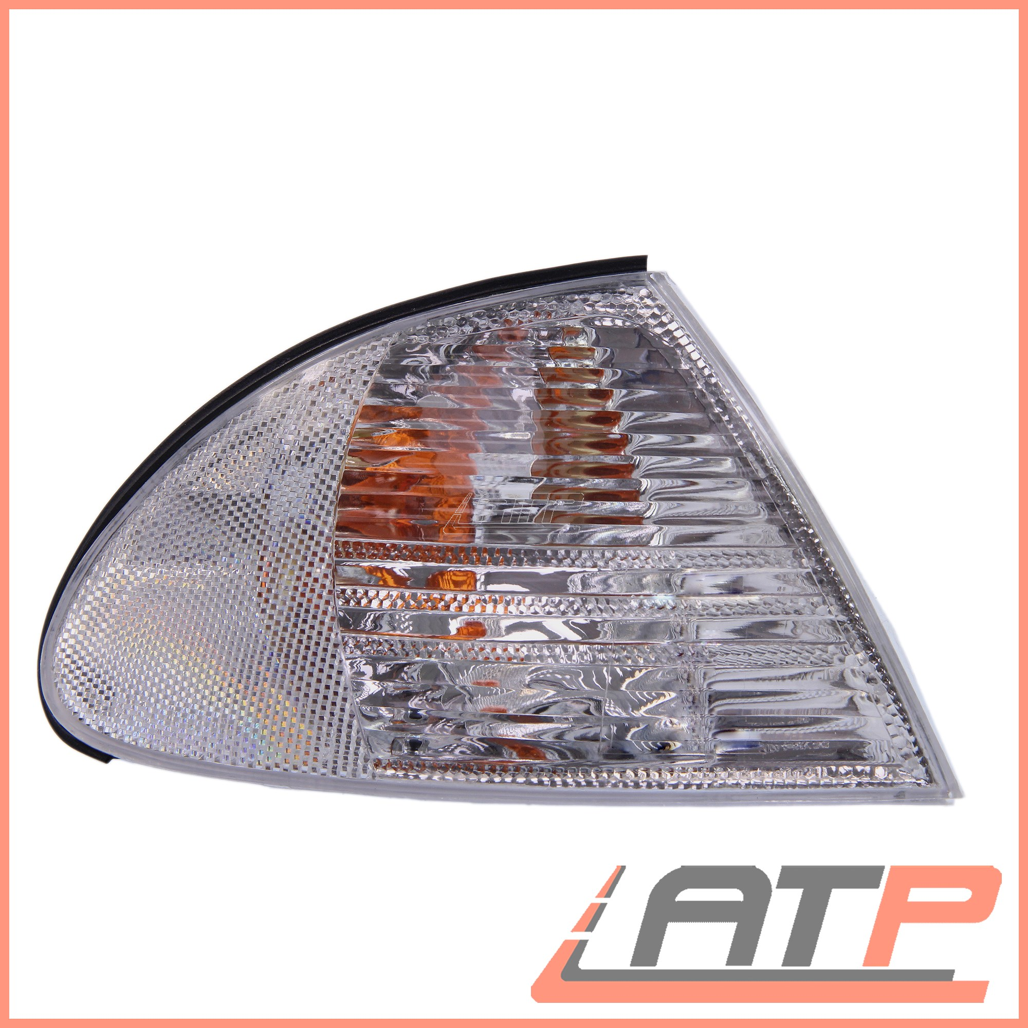 1x-INDICATOR-FRONT-RIGHT-WHITE-LENS-BMW-3-SERIES-E46