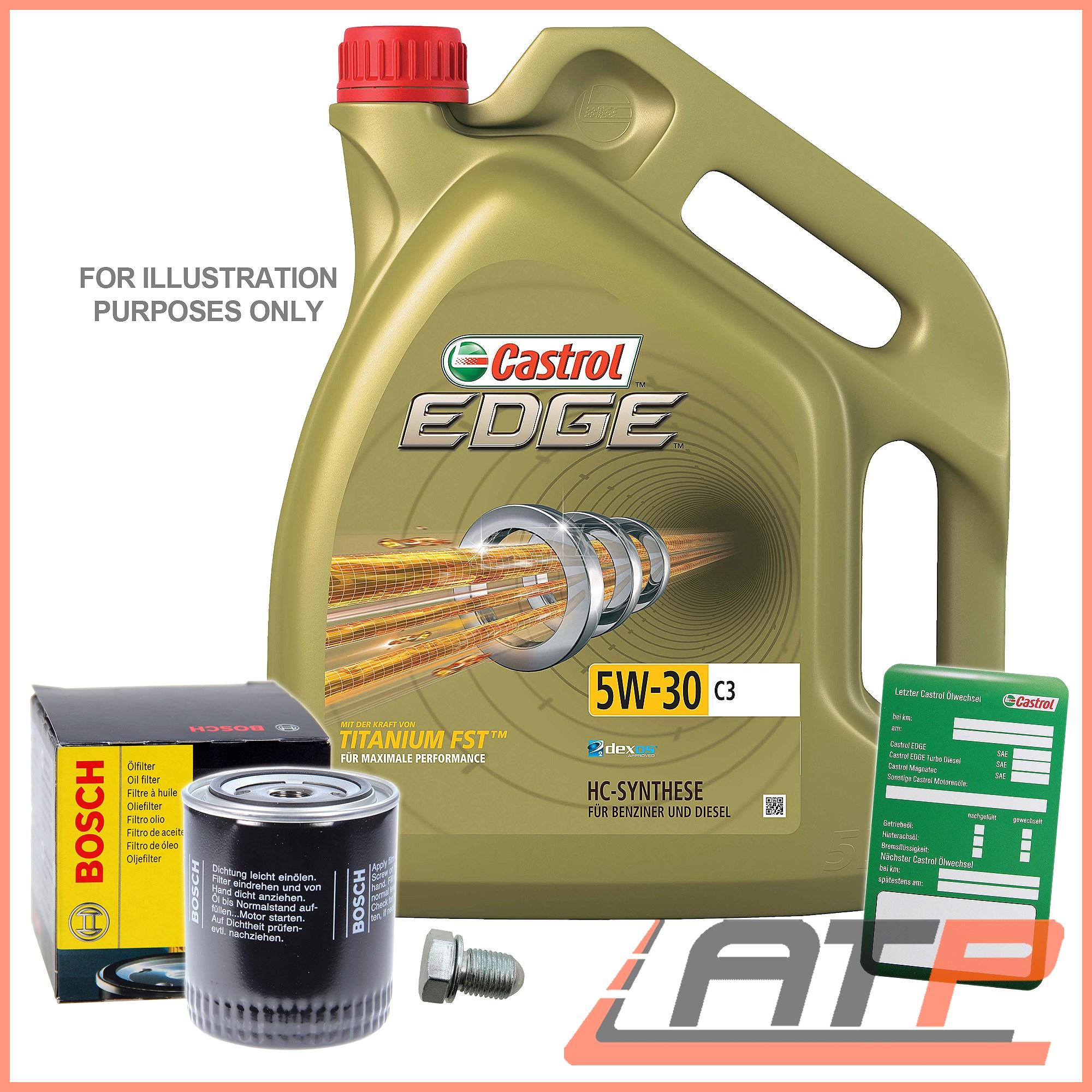 BOSCH OIL FILTER + 5L CASTROL EDGE FST 5W-30 C3 BMW 3 SERIES E36 E46