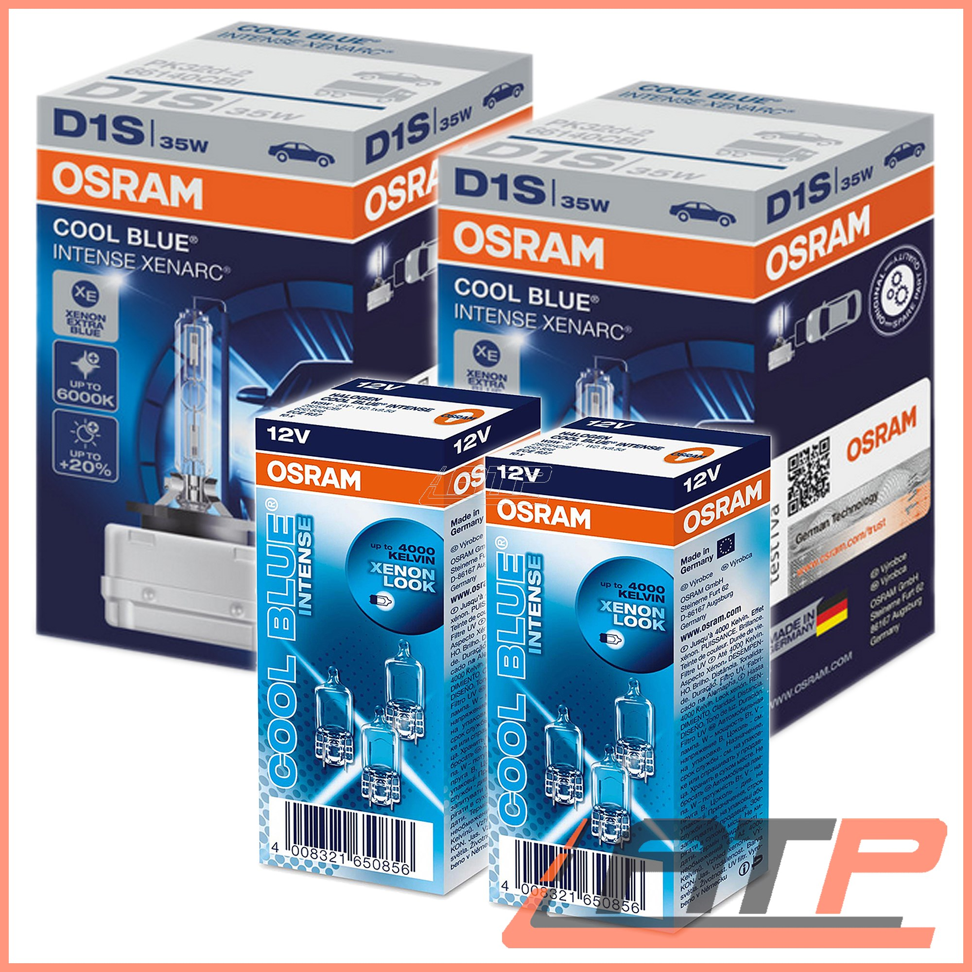 2x VW EOS 1F8 Genuine Osram Original Number Plate Lamp Light Bulbs