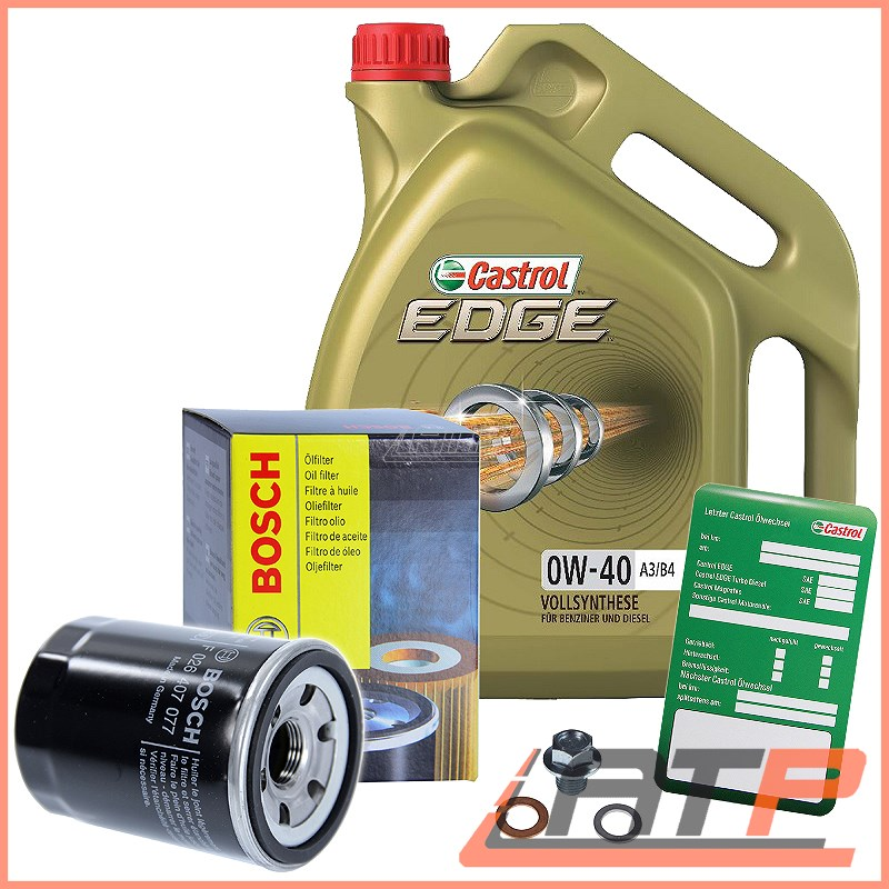 BOSCH-FILTRO-OLIO-5L-Castrol-EDGE-FST-0W-40-HONDA-CR-V-MK-2-3-LOGO