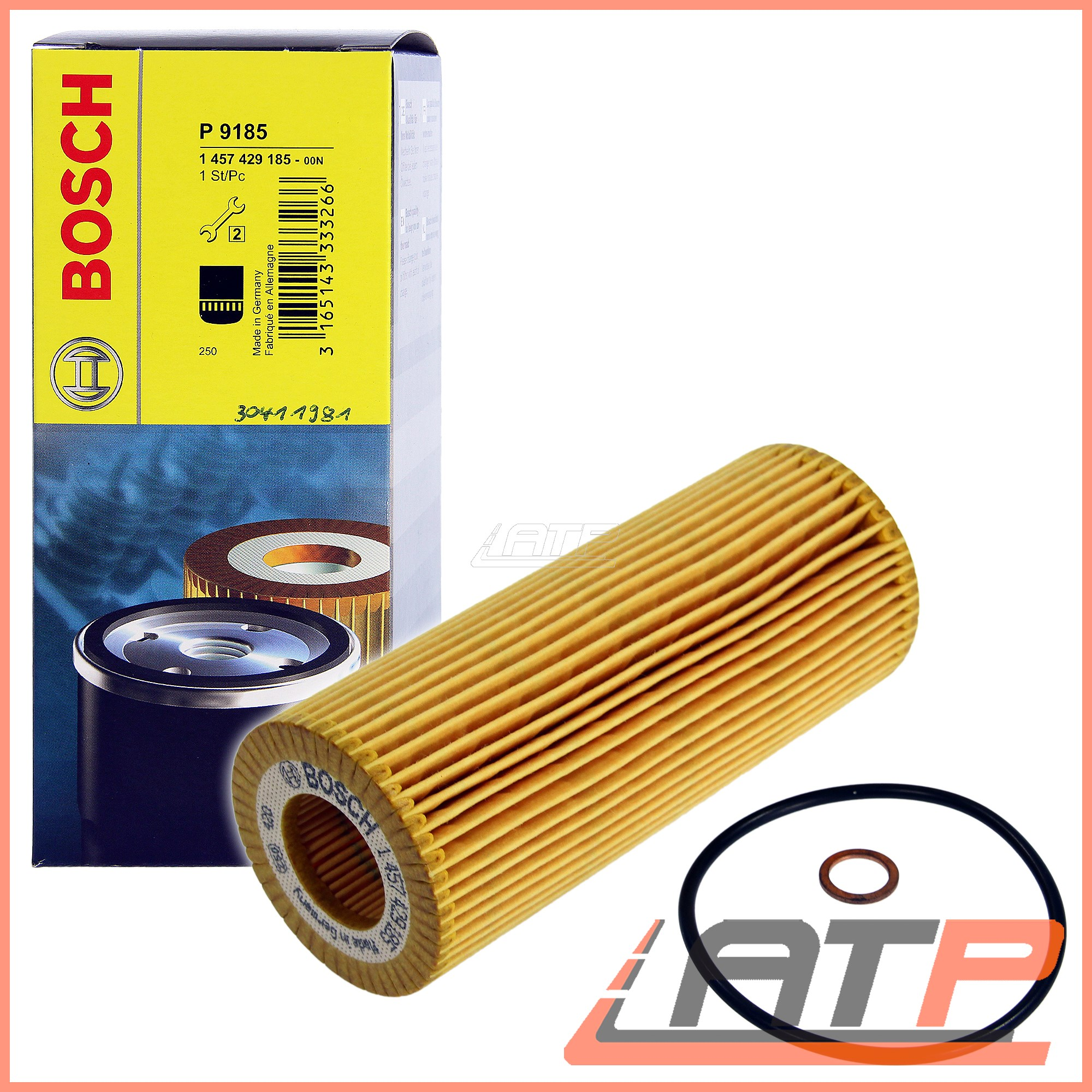 BOSCH-OIL-FILTER-6L-CASTROL-EDGE-FST-5W-30-C3-BMW-3-SERIES-E46-318d-320d-01-06 thumbnail 2