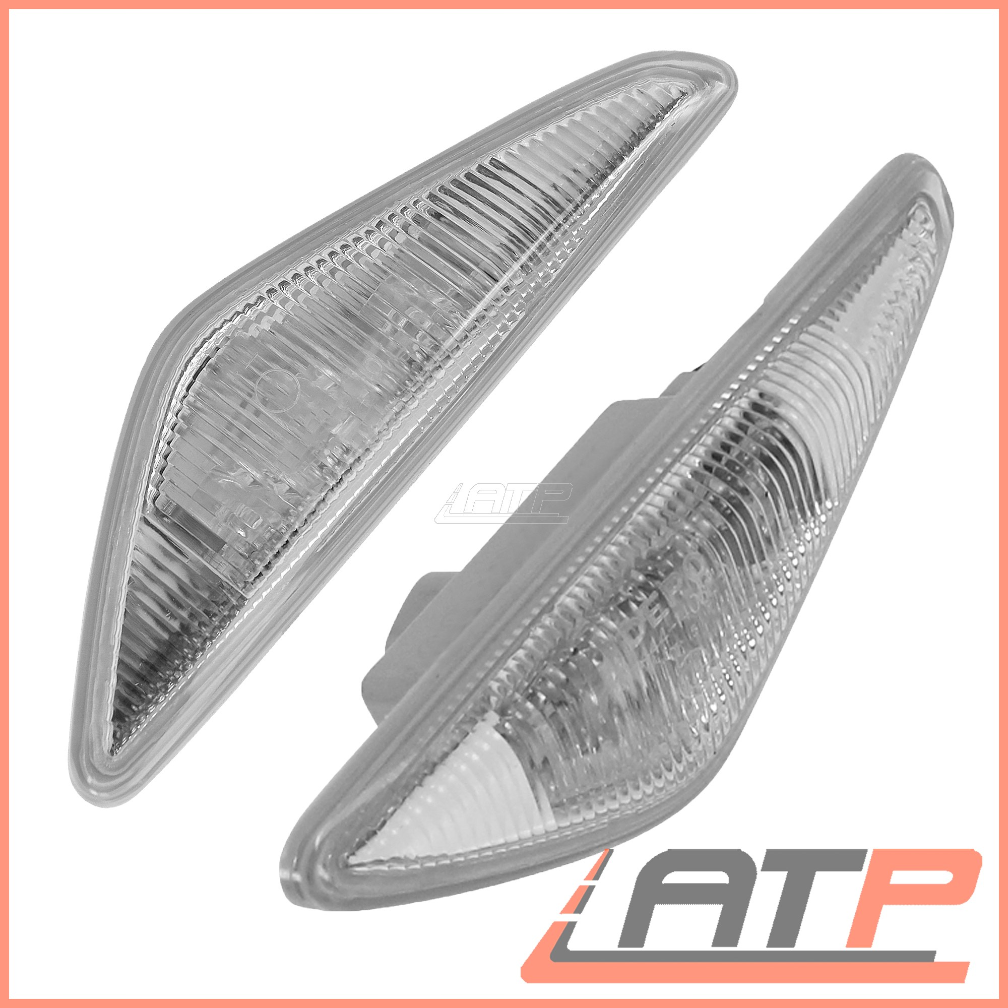 2X-LED-INDICATOR-TURN-SIGNAL-SIDE-REPEAT-LEFT-RIGHT-BMW-3-SERIES-E46