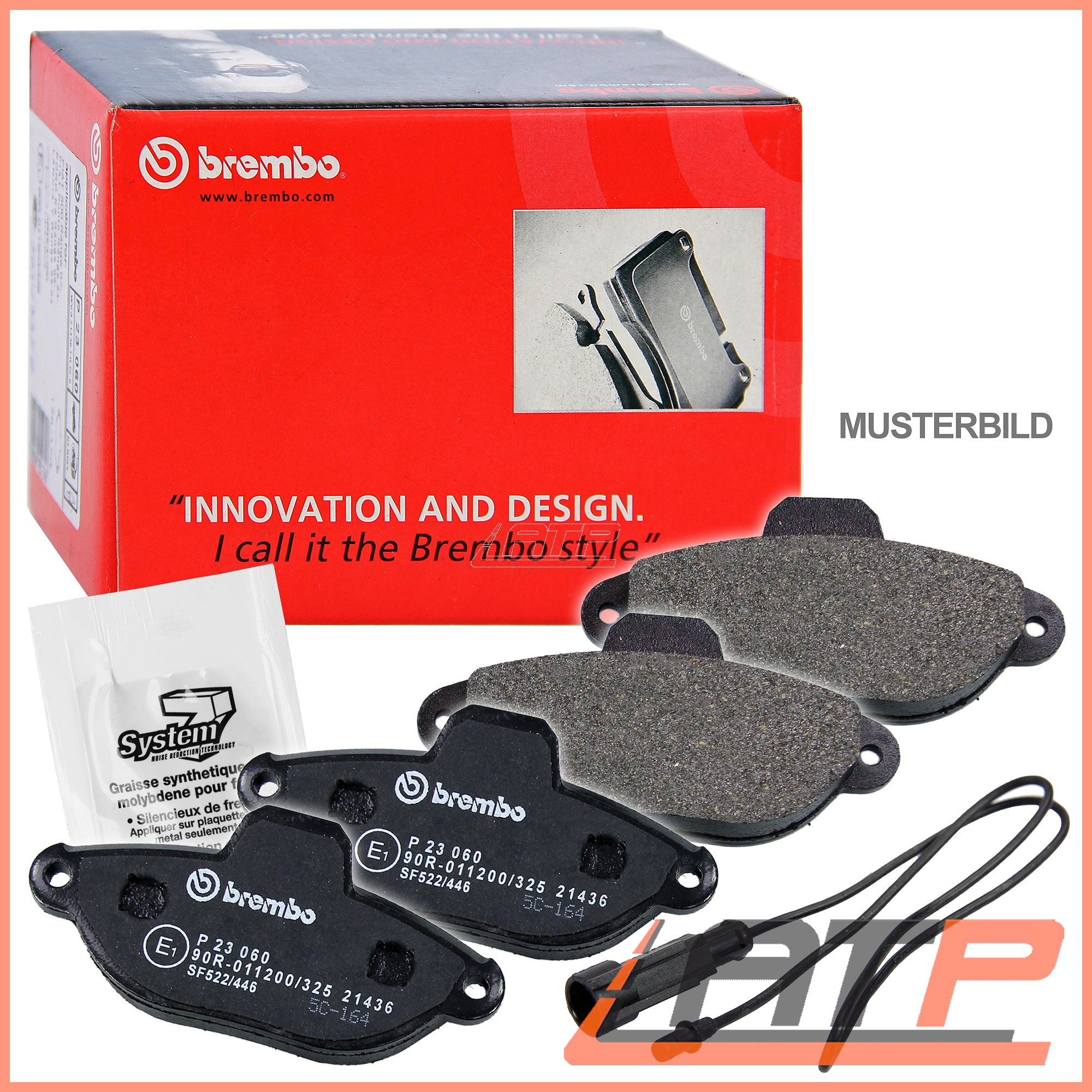 BREMBO SPORT MAX BRAKE DISCS Ø312 VENTED PADS FRONT VW POLO 9N 1.8