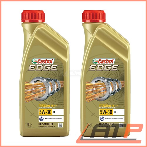 2x 1 l litre castrol edge titanium fst 5w 30 ll engine. Black Bedroom Furniture Sets. Home Design Ideas