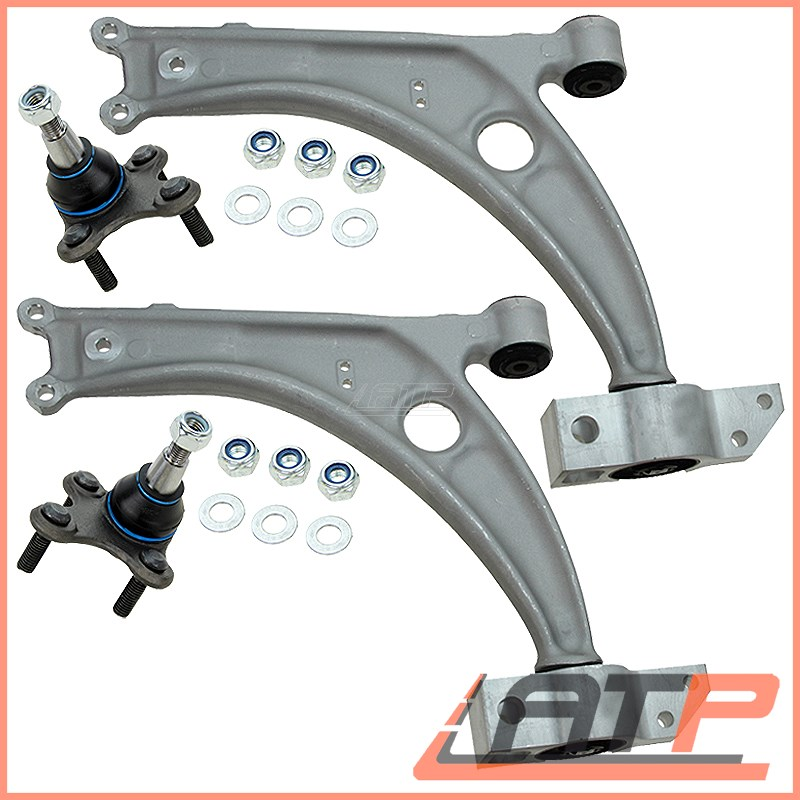 SET KIT SUSPENSION TRACK CONTROL ARM WISHBONE BALL JOINT FRONT LEFT RIGHT
