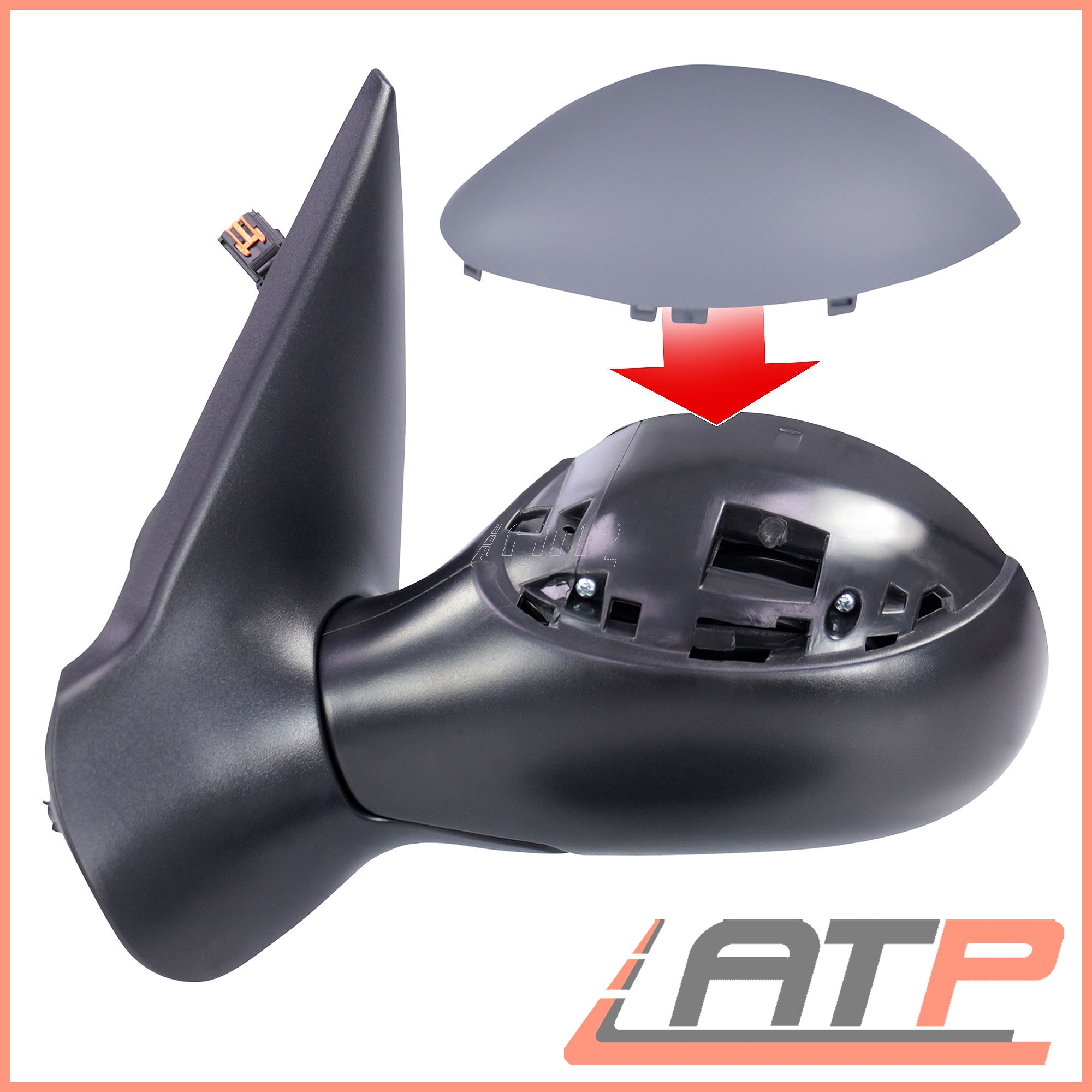 WING MIRROR LEFT ASPHERICAL PRIMED HEATED ELECTRIC PEUGEOT 206 CC 00