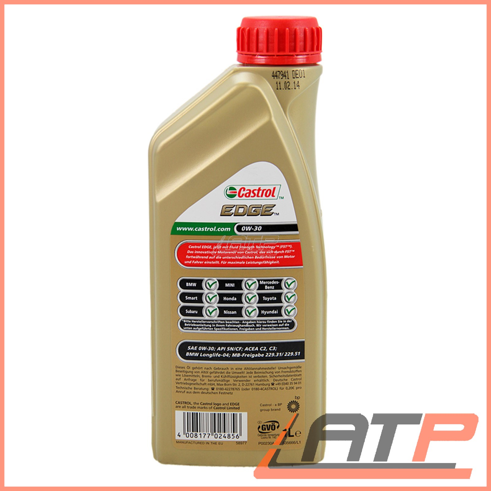 1 l 4 l 5 litre castrol edge titanium fst 0w 30. Black Bedroom Furniture Sets. Home Design Ideas