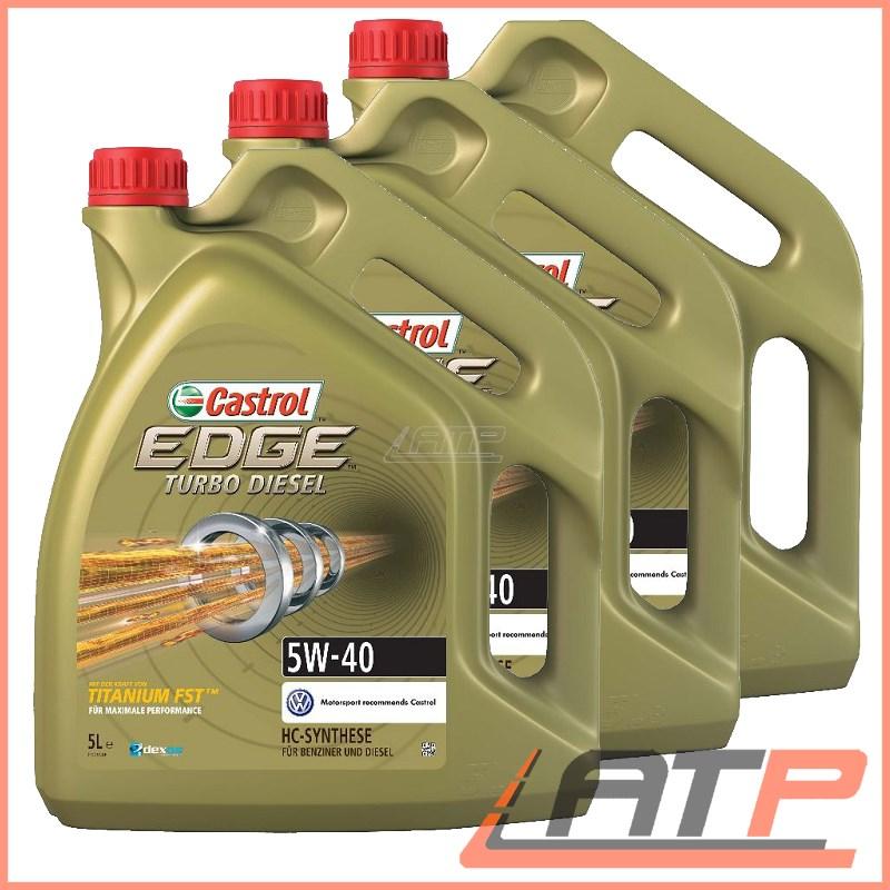 15 litre castrol edge fst 5w 40 engine oil vw 505 01 ebay. Black Bedroom Furniture Sets. Home Design Ideas