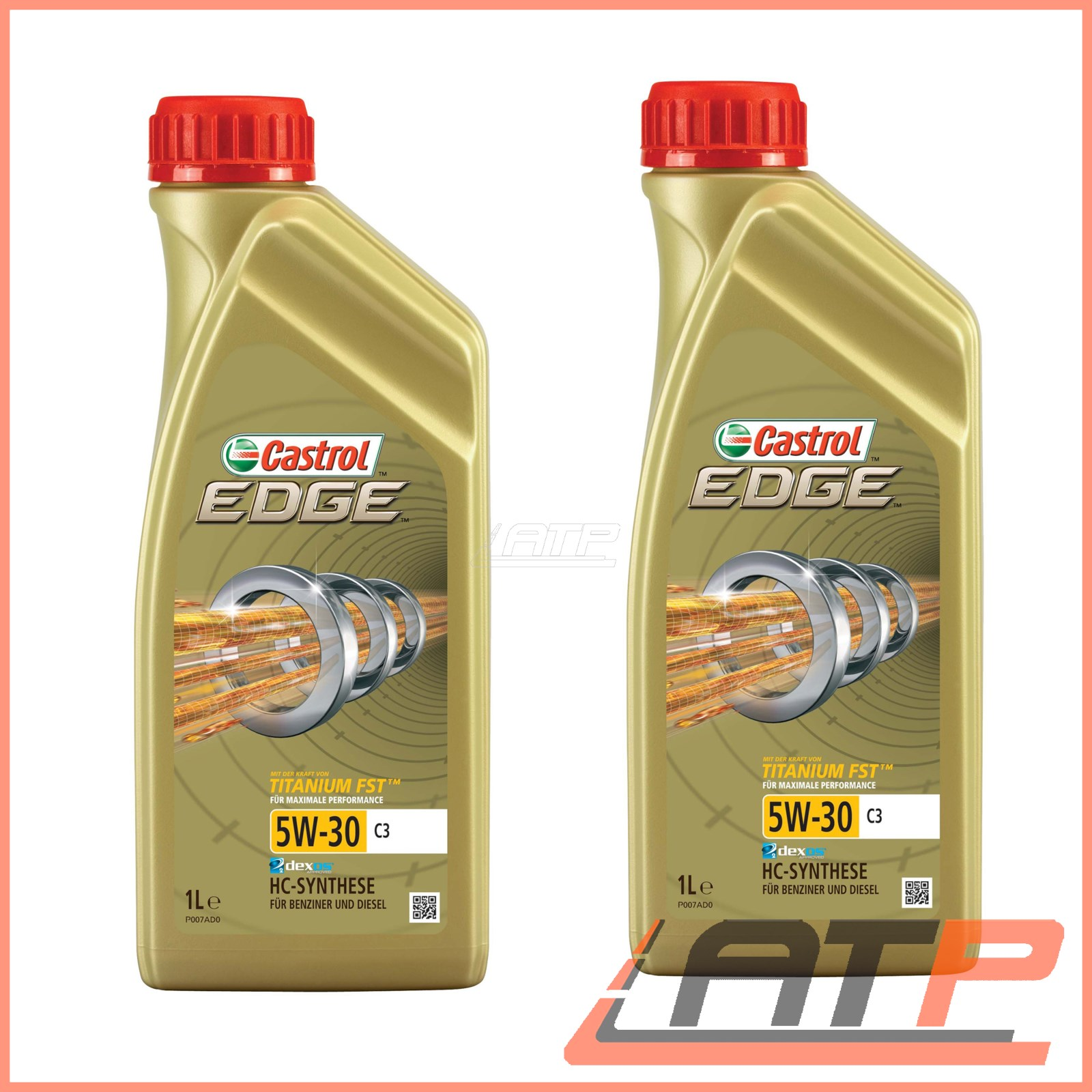 2x 1 l litre castrol edge titanium fst 5w 30 c3 engine. Black Bedroom Furniture Sets. Home Design Ideas